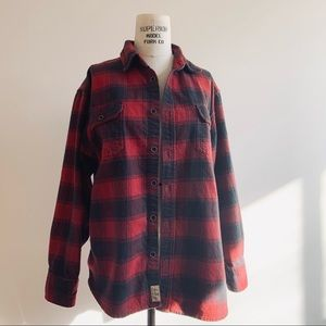 Buffalo Plaid Boyfriend Flannel Button Down Shirt